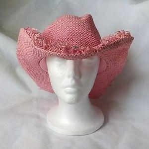 Dallas Hats Pink Straw Cowboy hat